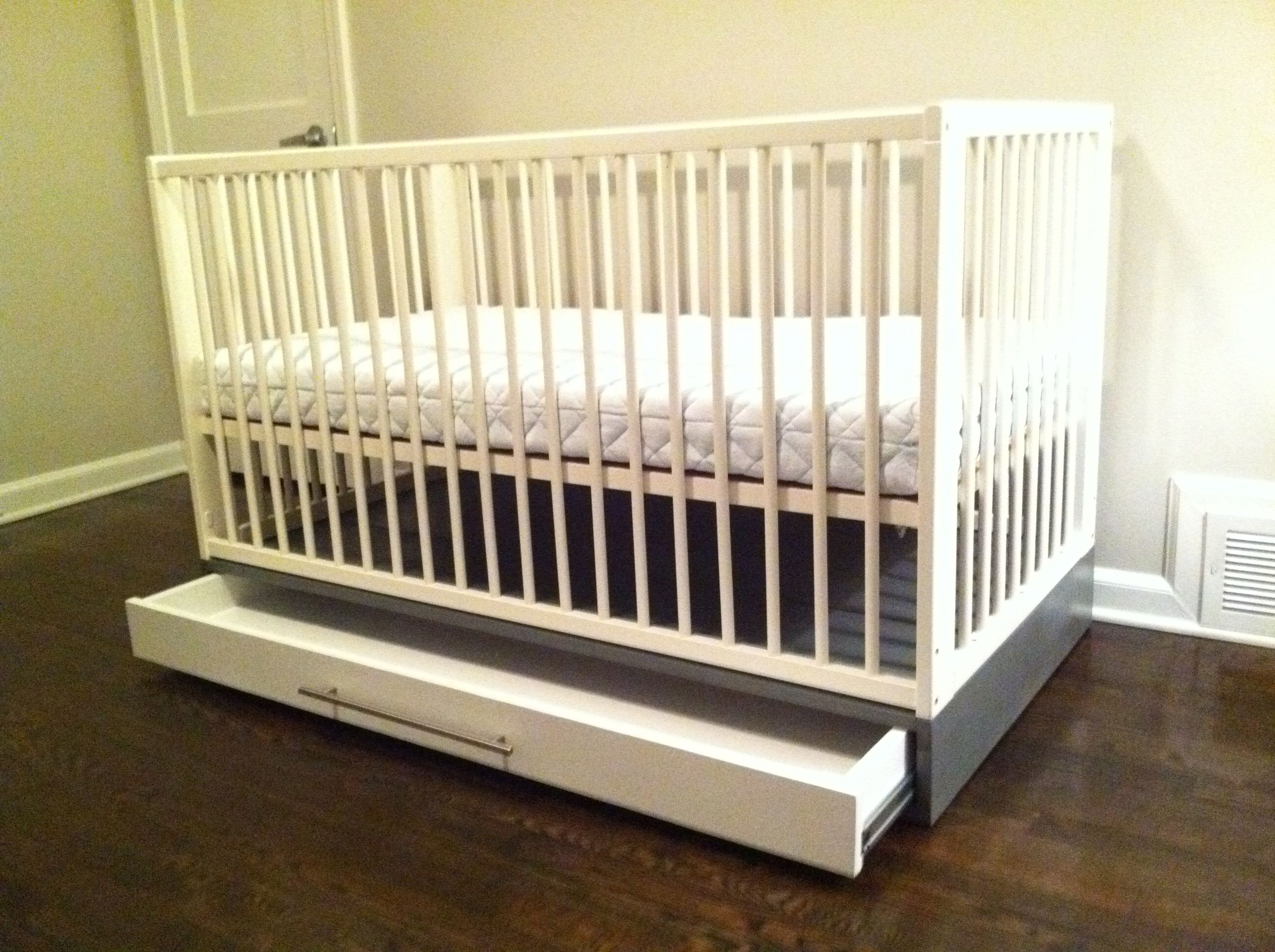 Brookfield fixed gate crib for sale - Build Drawer For Ikea Gulliver Crib Img_2555 Jpg 2592 1936