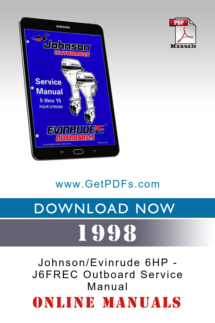 1998 Johnson Evinrude 6hp J6frec Outboard Service Manual Outboard Johnson Outboard Motors