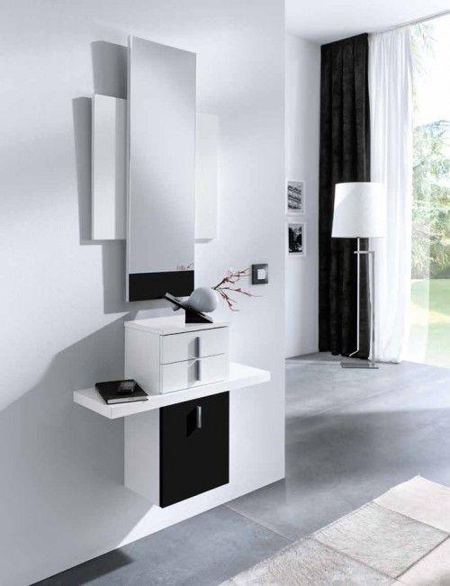 Mueble de recibidor suspendido modelo almeria negro - Decoracion almeria ...