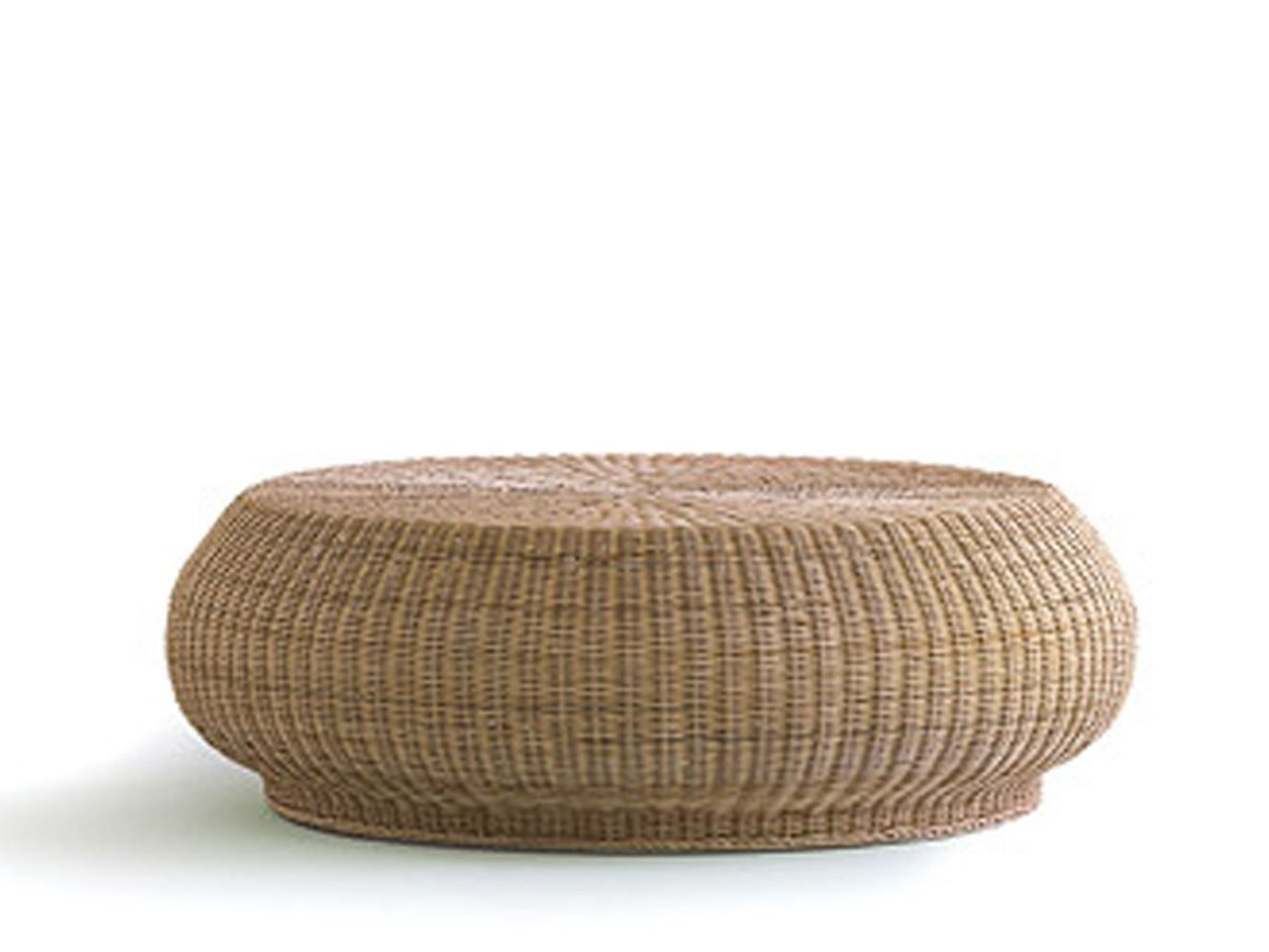 Low Round Woven Wicker Coffee Table Bolla 15 Collection By Gervasoni Design Michael Sodeau