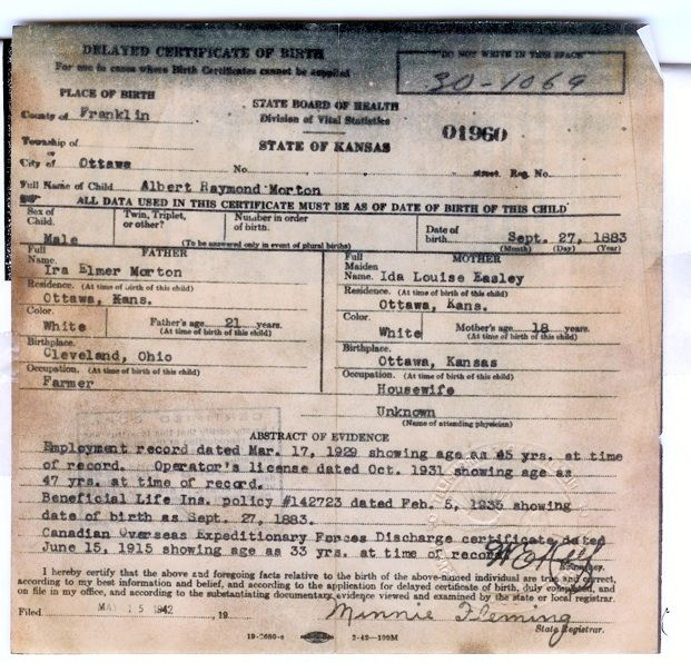 Delayed Birth Certificates Birth certificate, Genealogy and - birth certificate