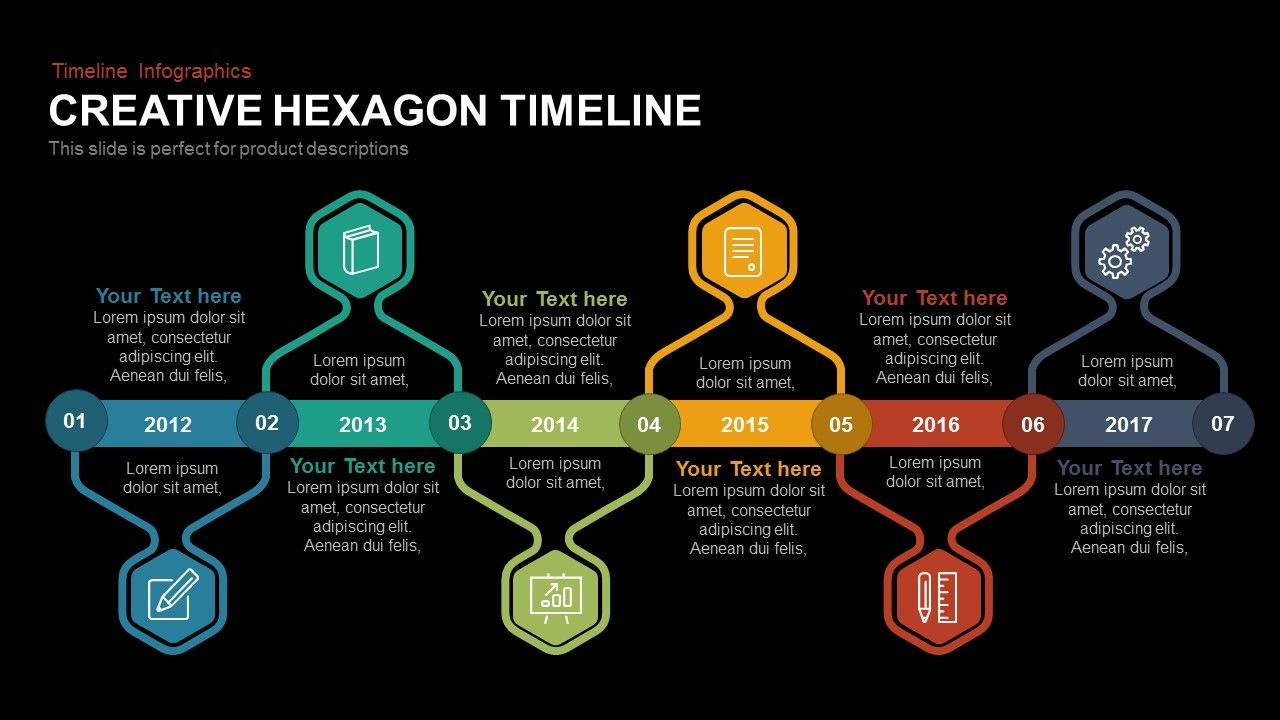 Creative hexagon timeline timeline planning powerpoint and creative hexagon timeline toneelgroepblik Choice Image
