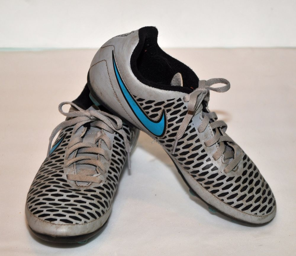 Boys Nike Magista Soccer Cleats Size 4y Magista Print W Turquoise Swoosh Guc Nike Soccer Cleats Boys Nike Sneakers Nike