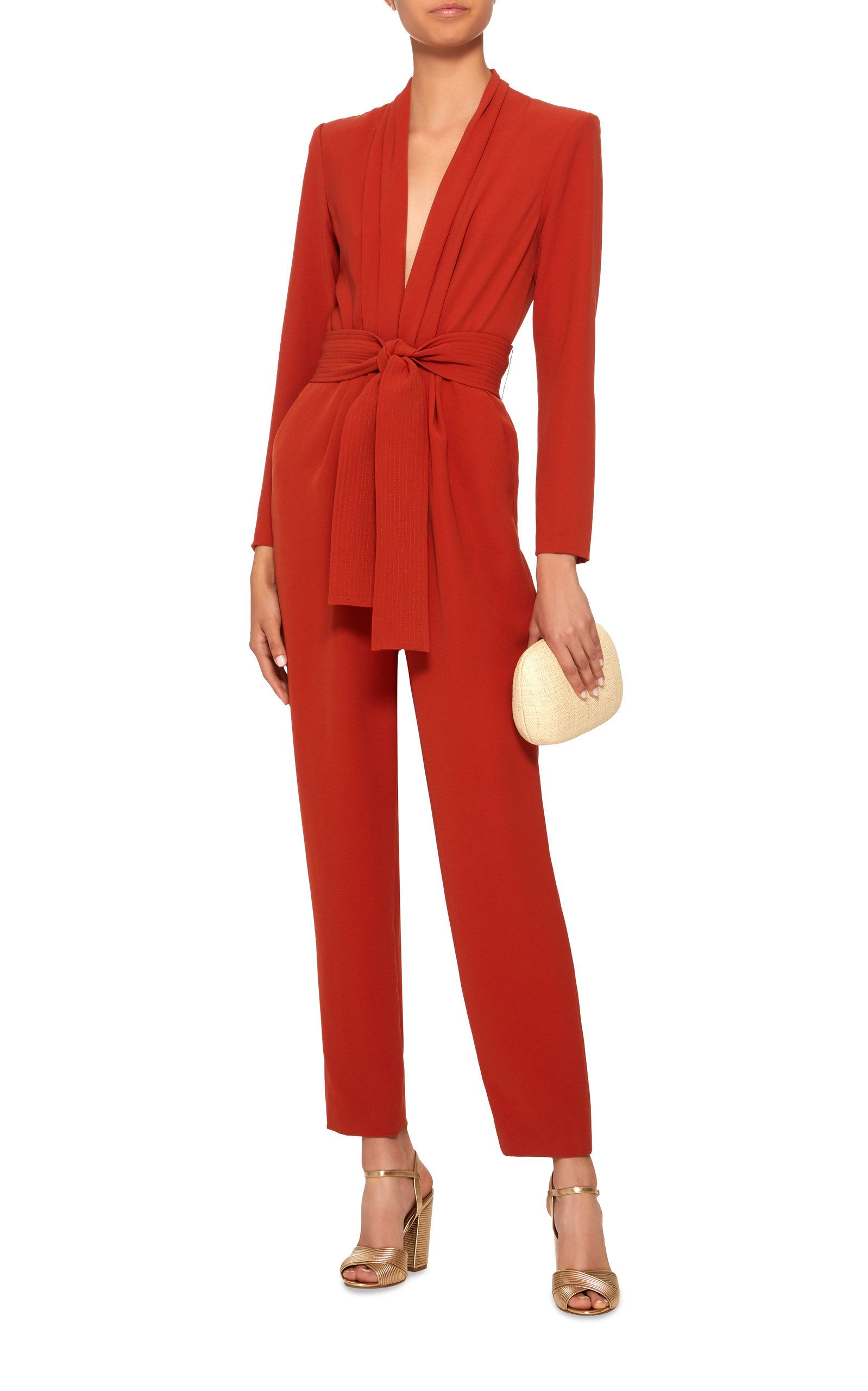 4014d9c93a8a Kieran Belted Crepe Jumpsuit by A.L.C. Now Available on Moda Operandi  Double Breasted Blazer