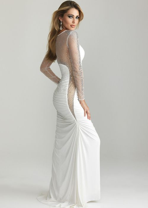 Collection White Long Gown Pictures - Weddings Pro