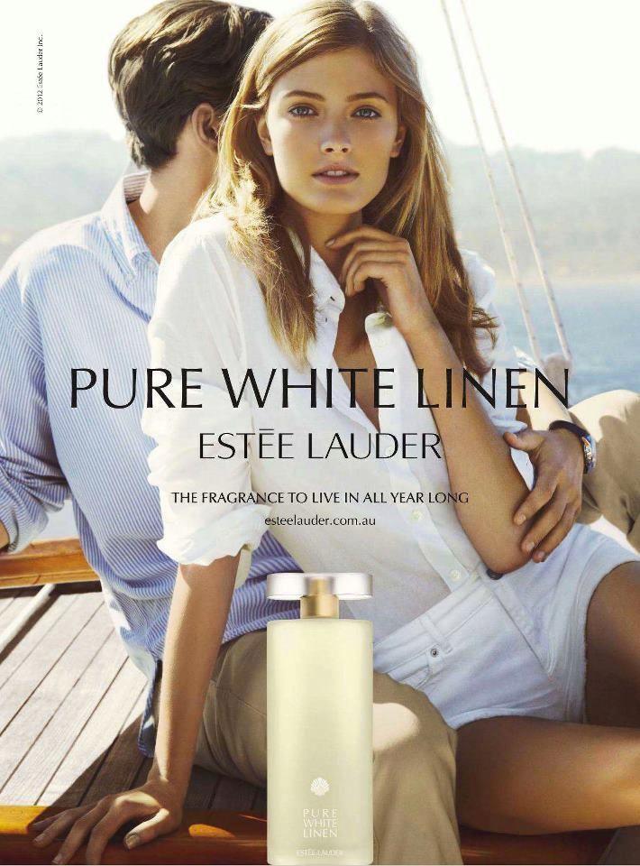 Est 233 E Lauder Pure White Linen Fragrance 2012 Ad Campaign