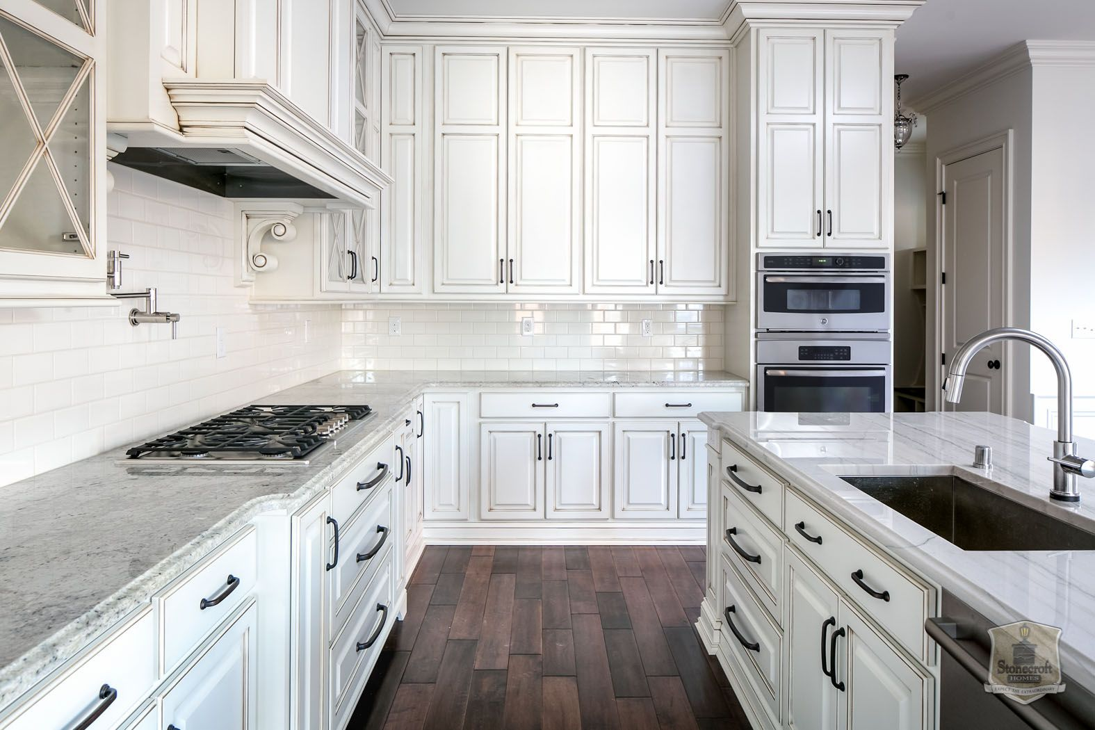 Lot 695 Louisville Custom Builder Glazed Kitchen Cabinets White Kitchen Cabinets New Kitchen Cabinets