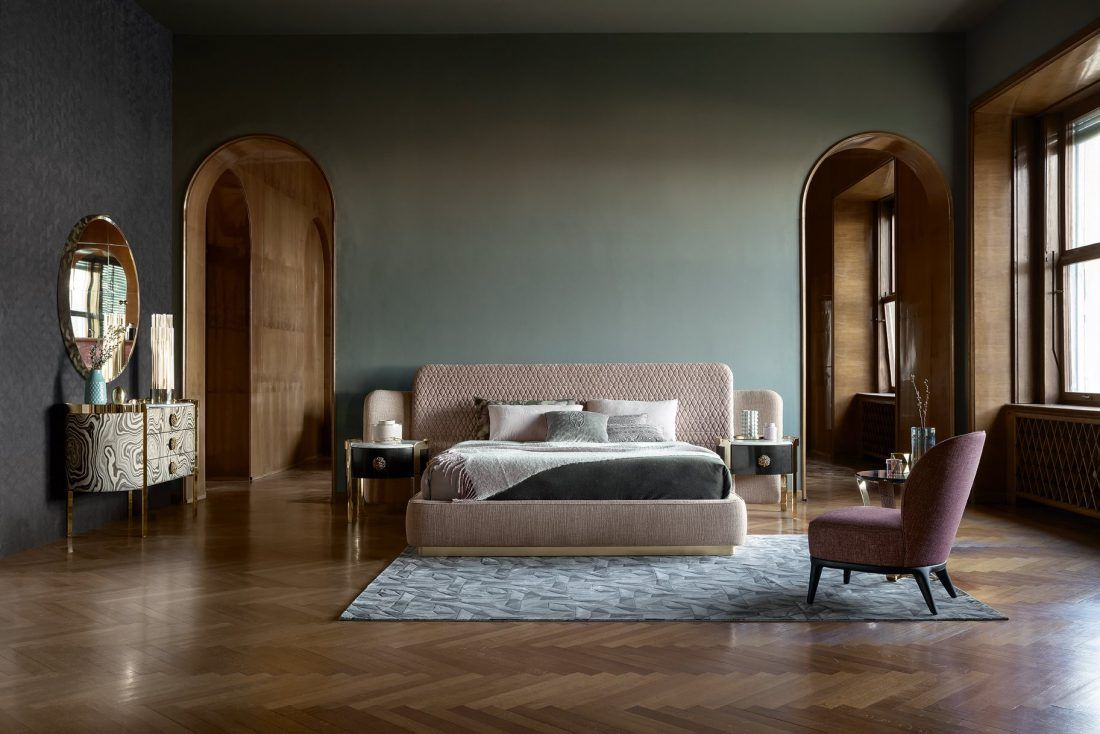 Opera Contemporary The Sheila Bed Is Characterized By Envel Contemporary Designers Furniture Da Vinci Lifestyle Contemporary Furniture Design Luxurious Bedrooms Furniture