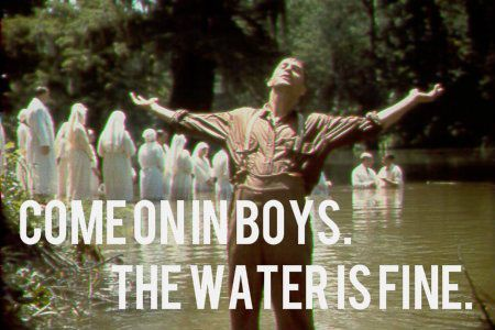 Image result for o brother where art thou baptism song meme