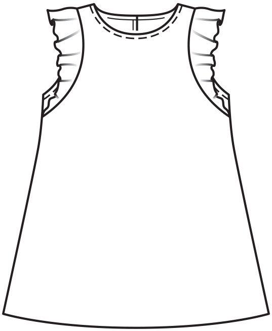039a9d52115 Платье для девочки - выкройка № 137 из журнала 12 2015 Burda – выкройки  платьев на Burdastyle.ru