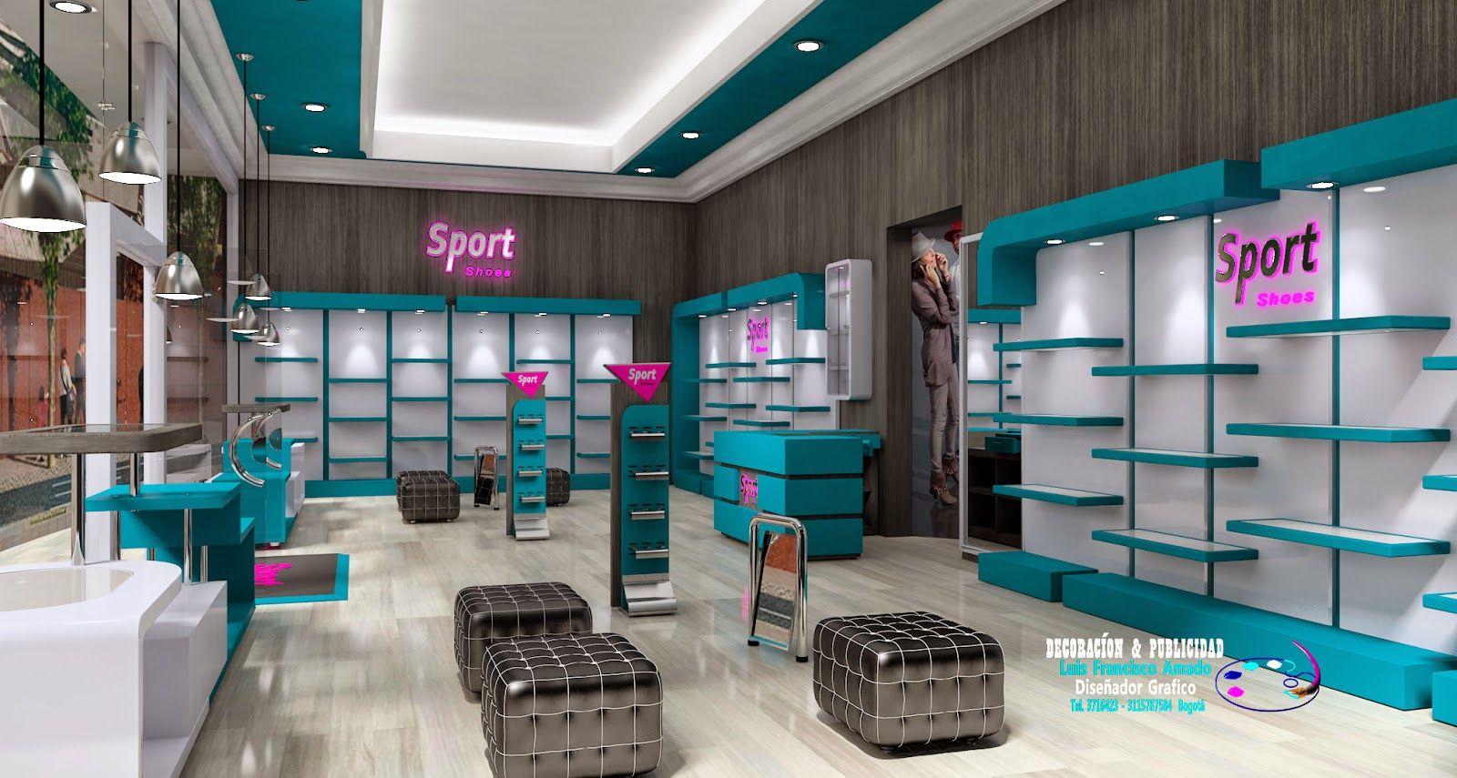 DECORACIÓN Y PUBLICIDAD: Diseño Tienda De Calzado | Lugares para ...
