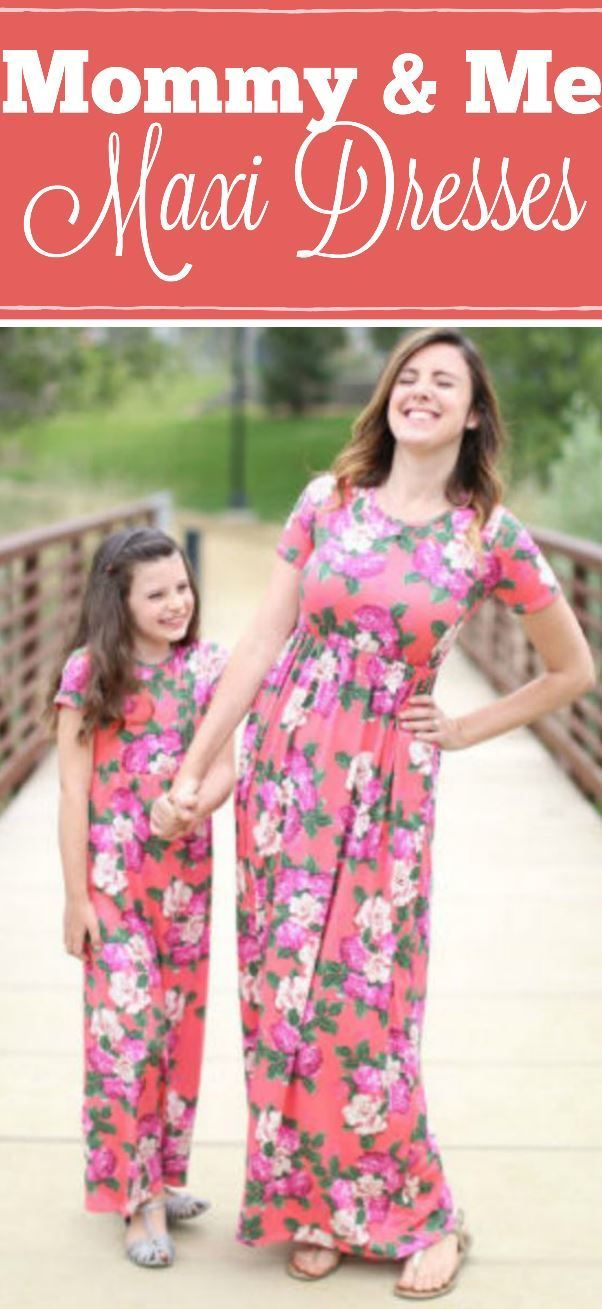 These matching maxi dresses are to die for i love mommy and me