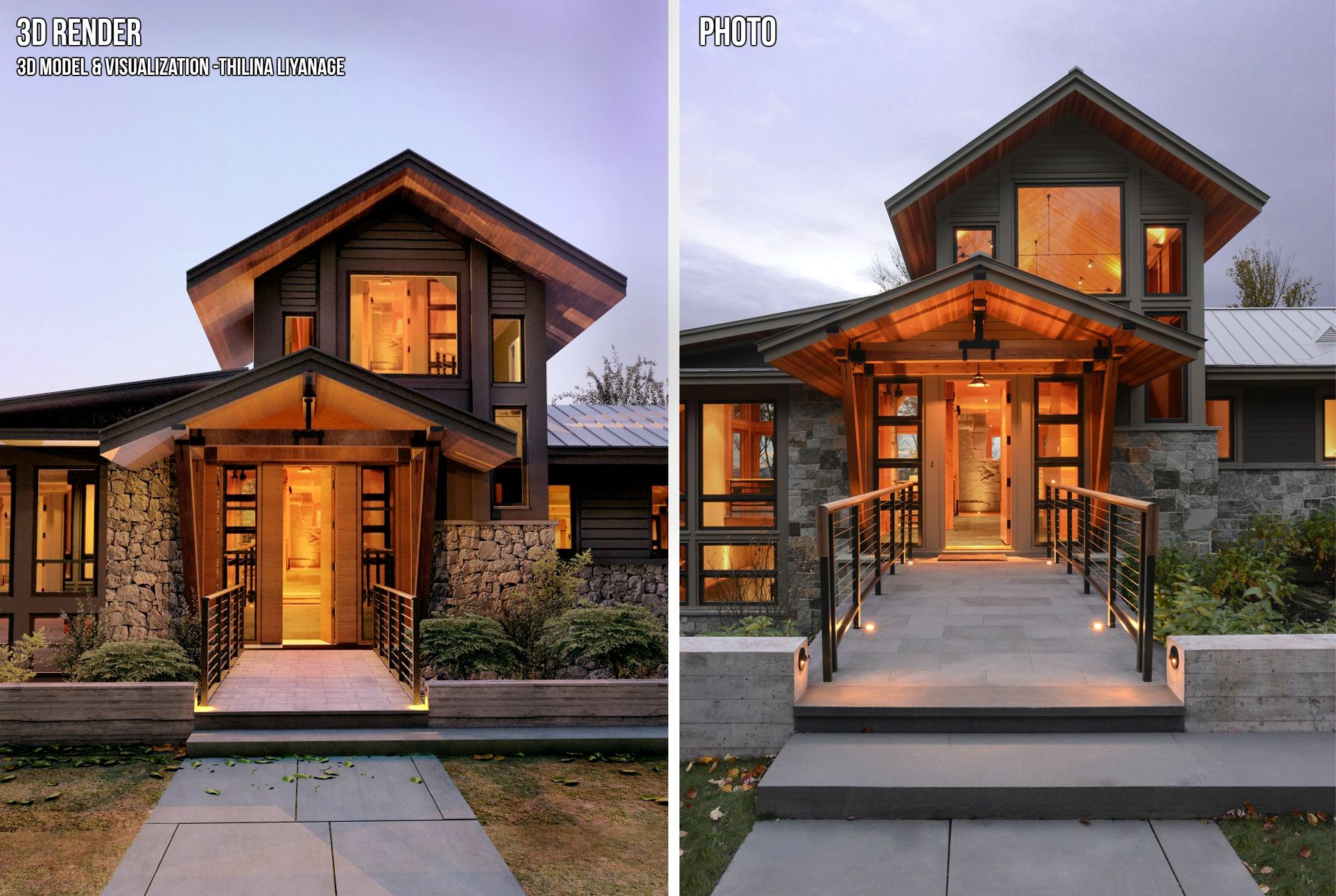 Real Photo Vs 3d Model Rendering With Sketchup Vray