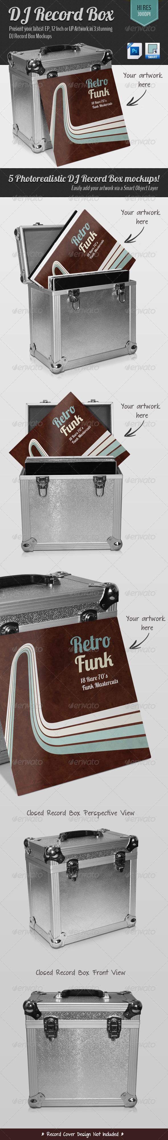 Graphics Dj Record Box Graphicriver Record Boxes Dj Record Vinyl Records Covers