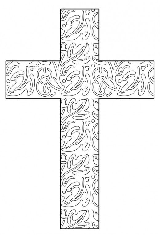 Free Printable Cross Coloring Pages Cross Coloring Page Coloring Pages Free Printable Coloring Pages