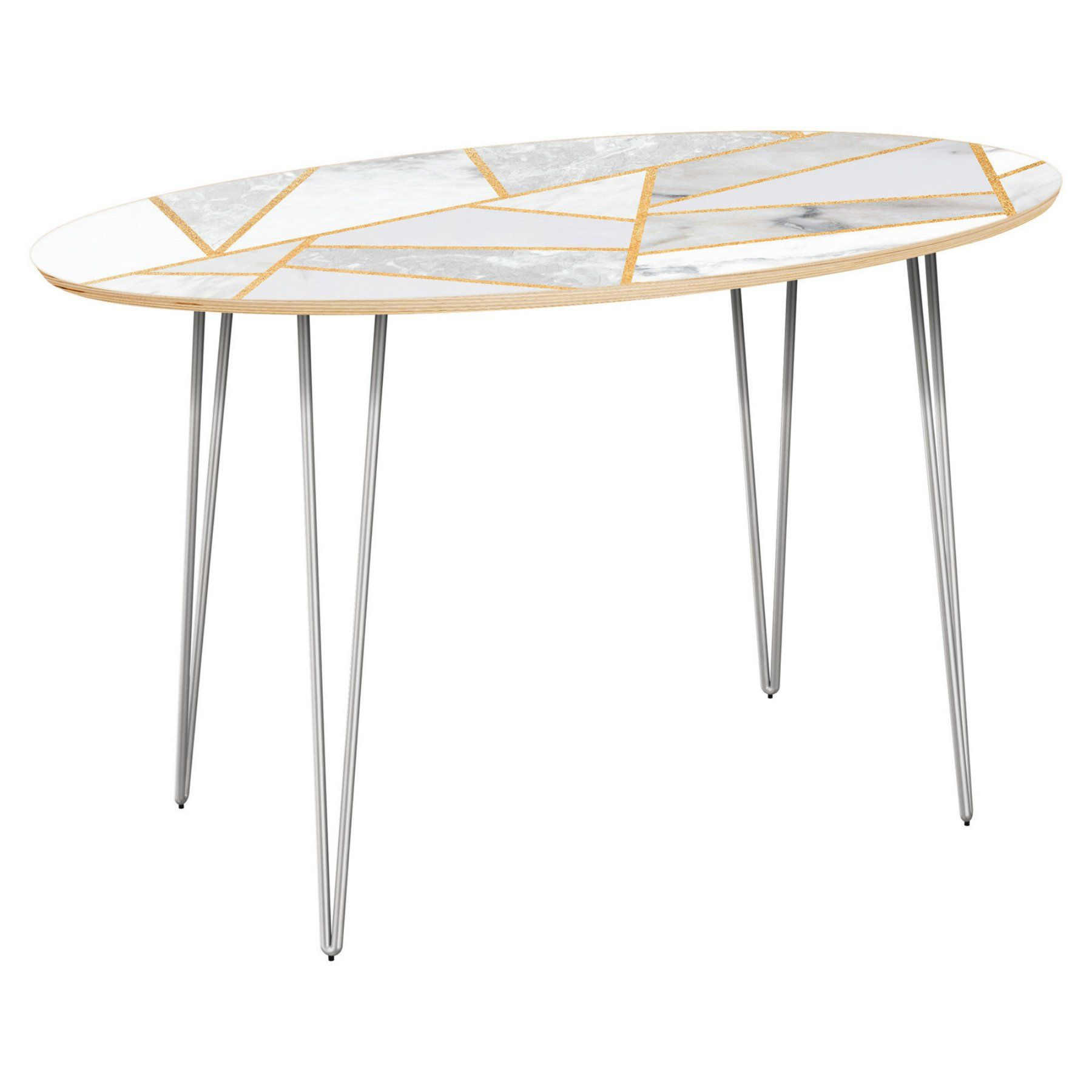 Nyekoncept Ondine Hairpin Marble Melange Console Table  12018859