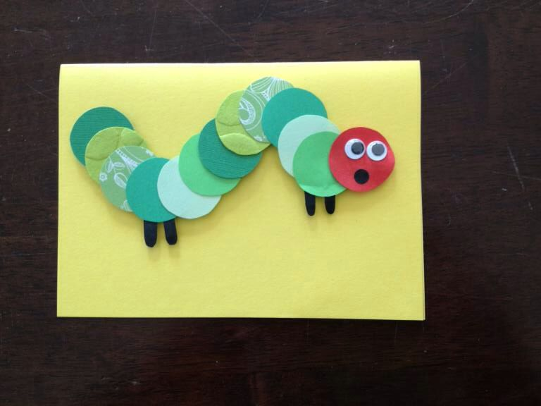 The Very Hungry Caterpillar Card Baby Shower Or Childs Birthday