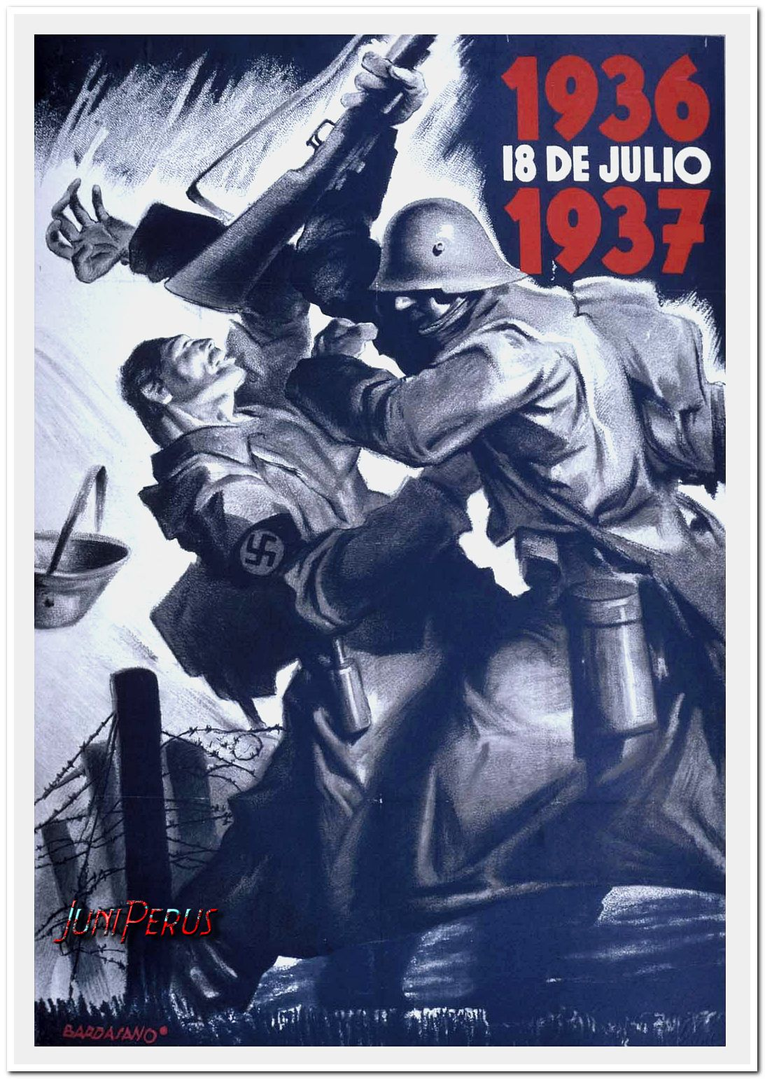 1936 18 de julio 1937. Bardasano - Spanish Civil war
