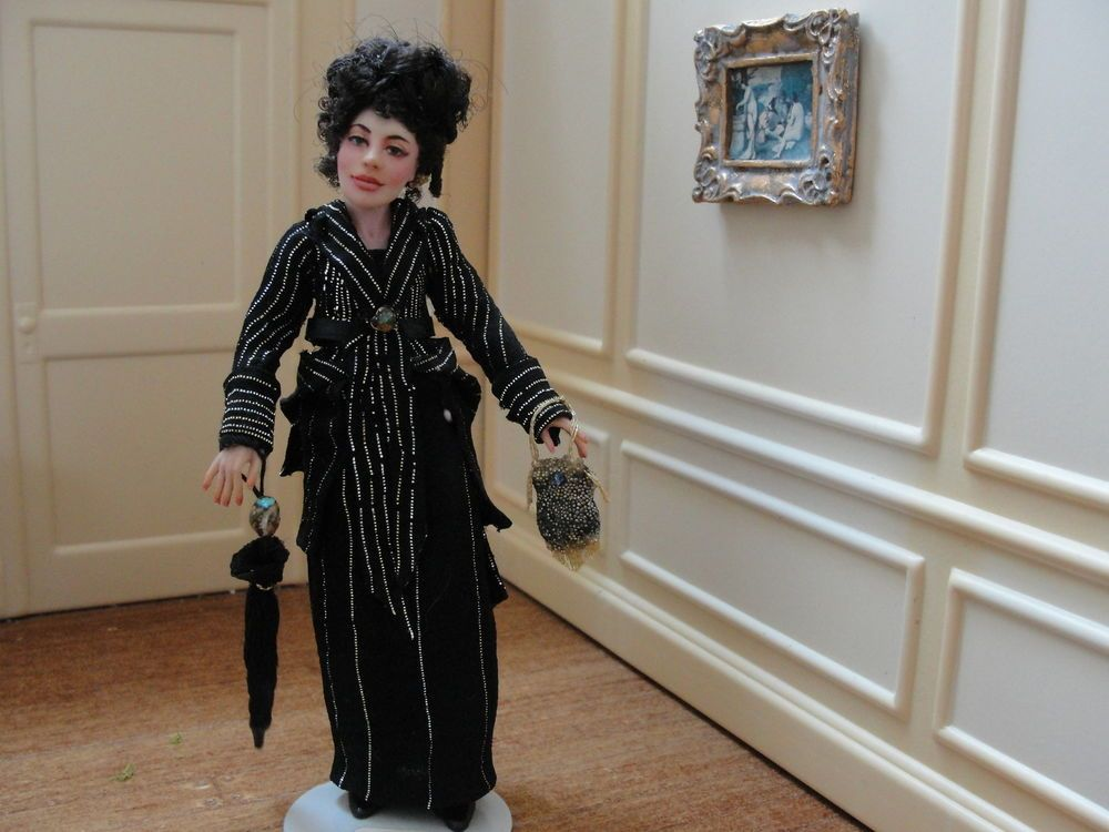 Incredible Details About Lady In Mourning Artist Woman Doll Handmade Download Free Architecture Designs Viewormadebymaigaardcom
