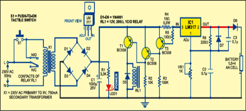 automatic battery charger wiring diagram automatic car battery charger circuit diagram and operation car wiring on automatic battery charger wiring diagram