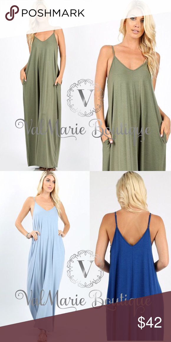049a1b3f32 Creamy olive spaghetti strap boho maxi dress This oversized solid boho maxi  dress is a must