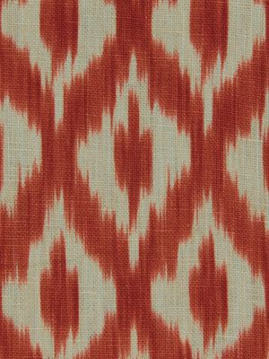 Orange Ikat Upholstery Fabric Modern Ikat By Popdecorfabrics