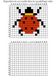 Reproduire Un Dessin Modele Pixel Art Quadrillage Coloriage Pixel Art