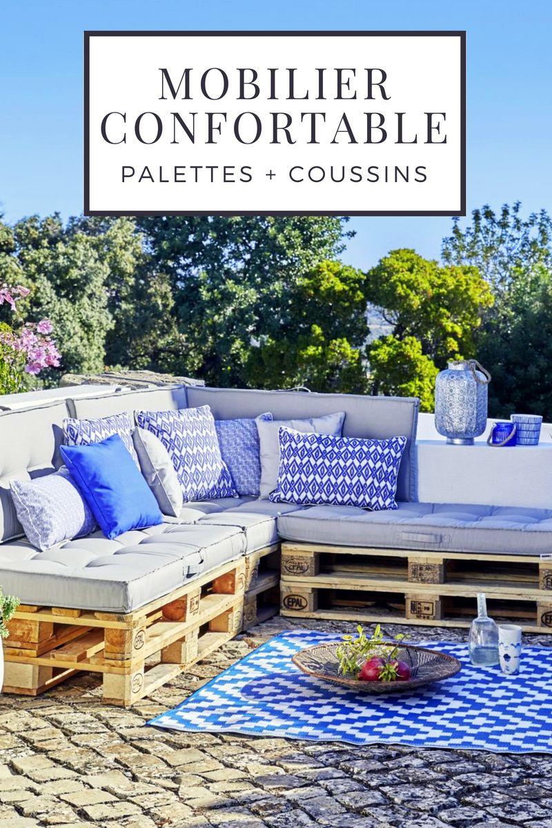 11 id es de meubles confortables fabriquer avec des Coussin pour salon de jardin palette