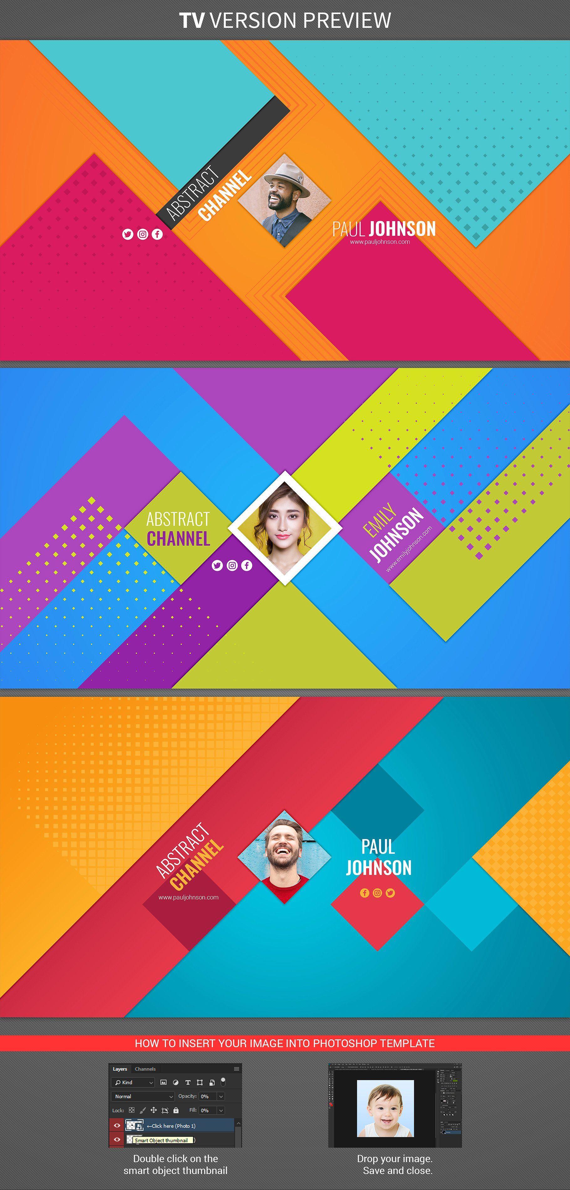 3 Abstract Youtube Banners PhotoshopCCeditedphoto