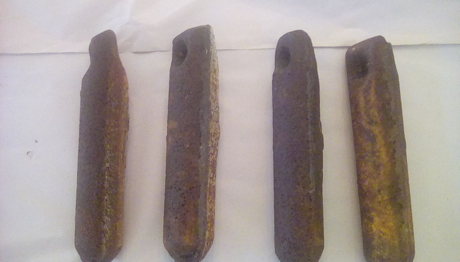 3 1//2 lbs antique cast iron window Lot of 4 sash weights