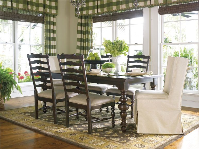 Buffalo Checked Curtains Home Dining Table Dining Furniture