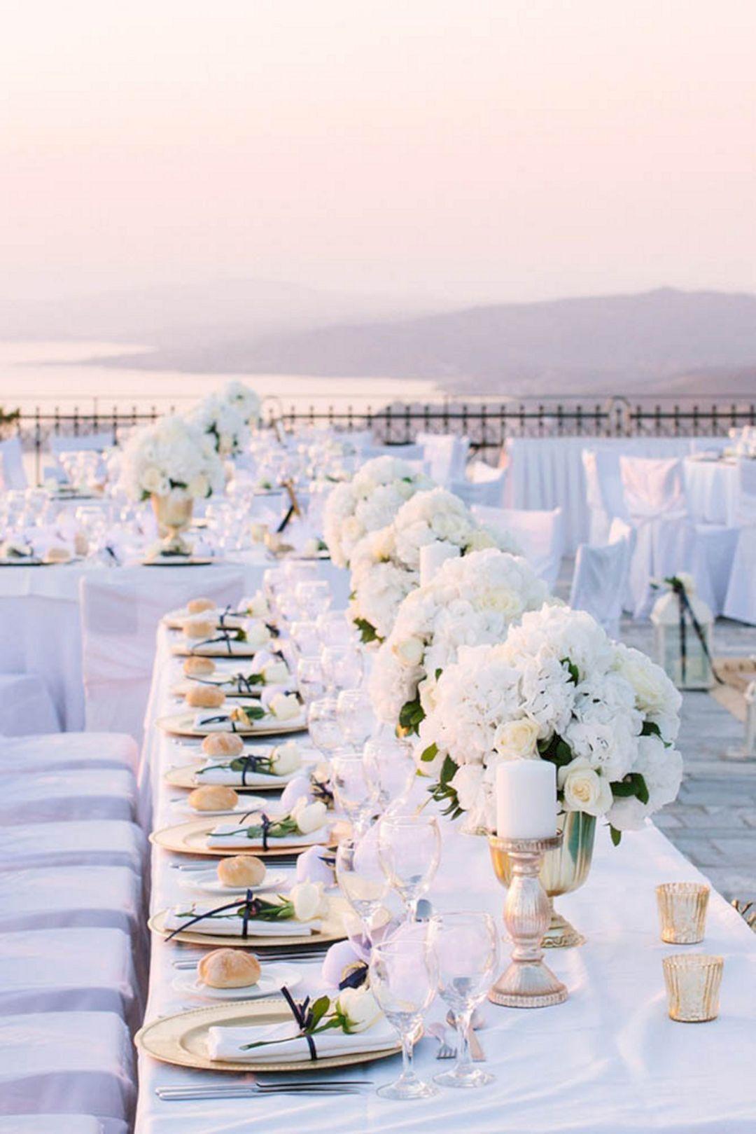 Simple wedding decoration ideas for reception   Most Popular White Wedding Decoration Ideas For Your Elegant