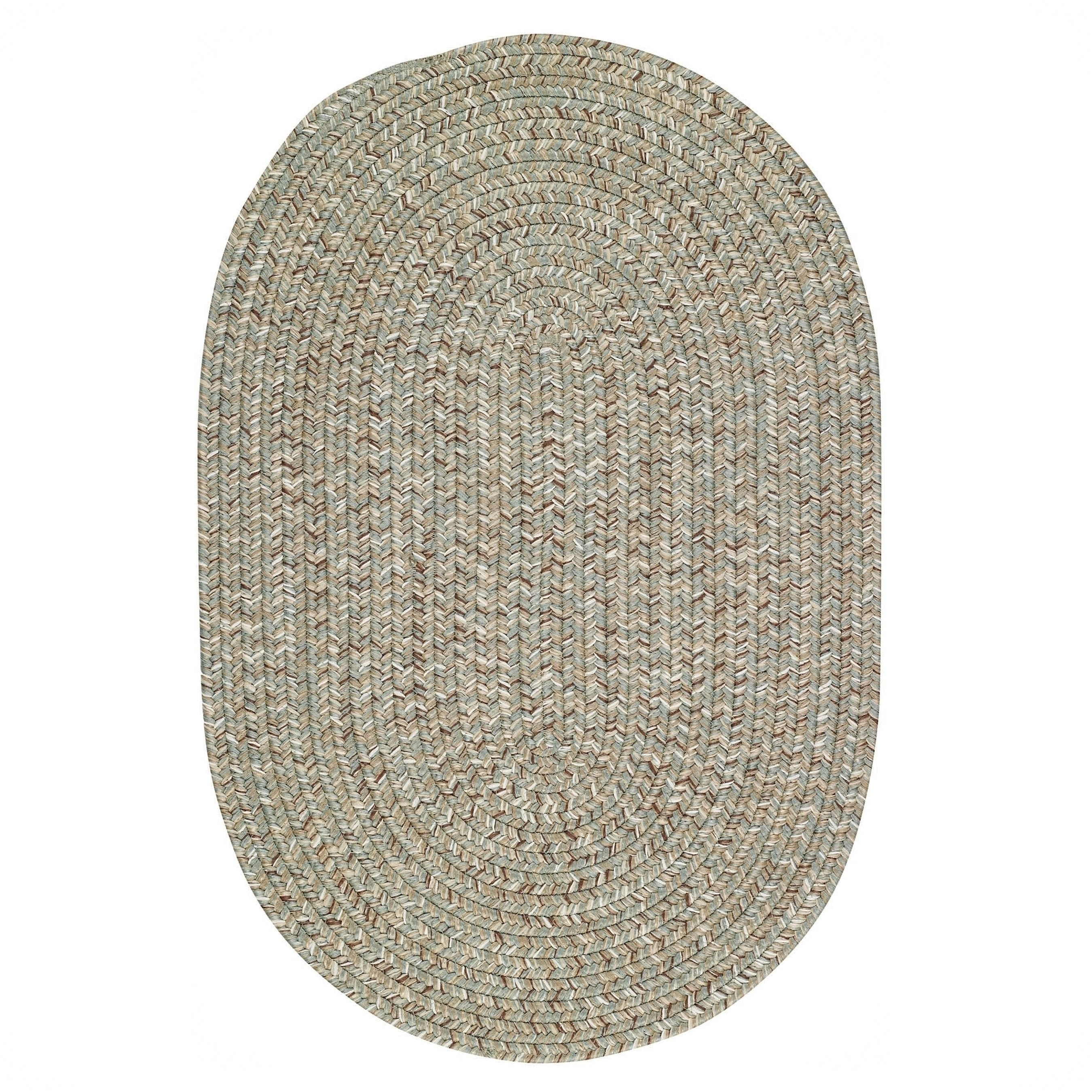 Capel Rugs Sea Glass Spa Oval Outdoor Braided Rugs Multi Sage Green 10 Round Square Polypropylene Solid Braided Area Rugs