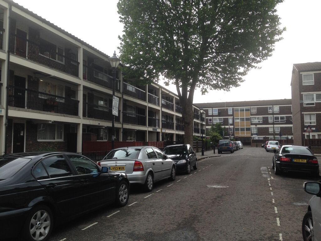 Social Housing Estate In Bow East London Council