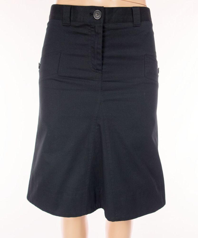 6e41df0b66 BURBERRY LONDON Skirt Size USA 6 UK 8 S Small Black Golf Cotton Stretch  #BurberryLondon #ALine