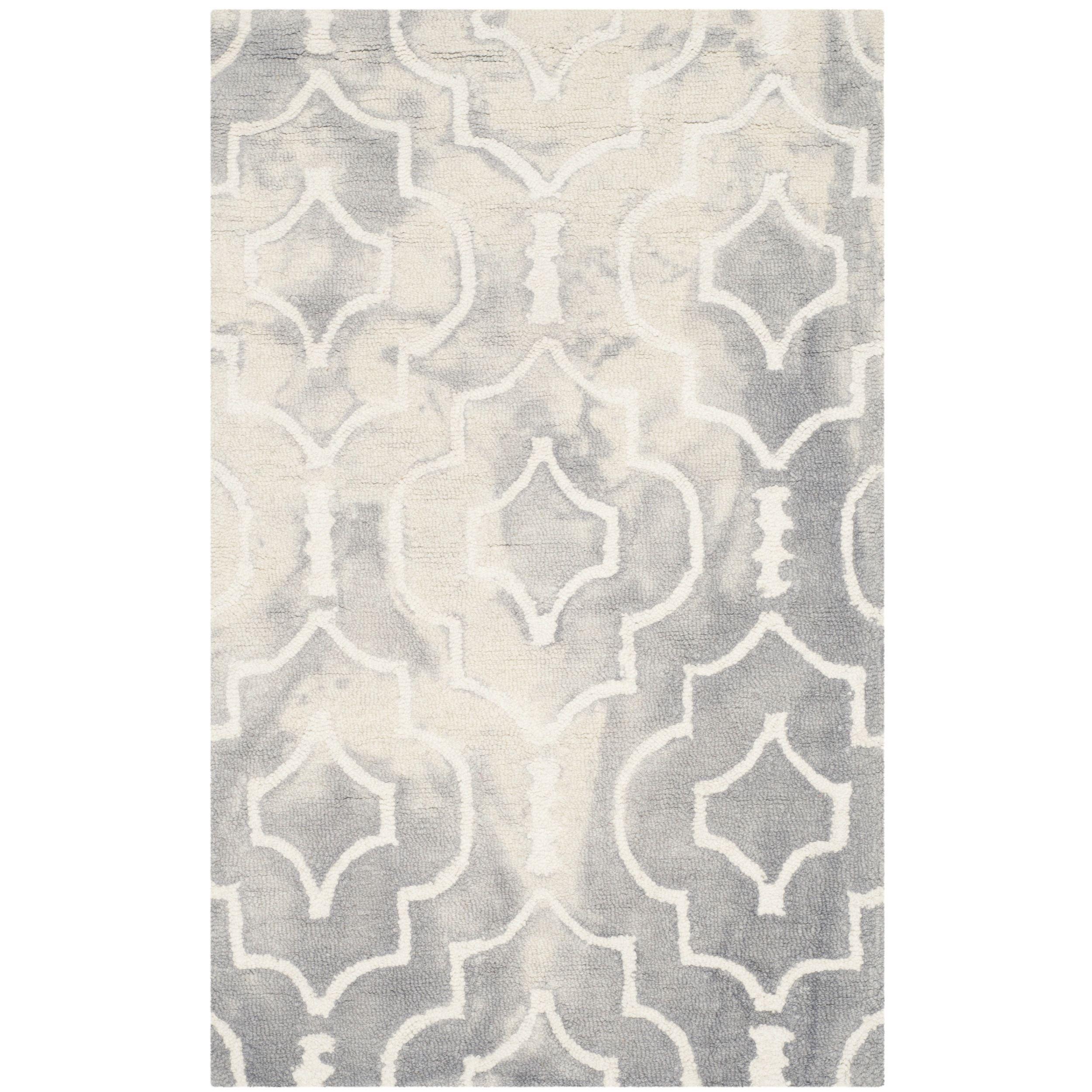 Safavieh handmade dip dye watercolor vintage grey ivory wool rug