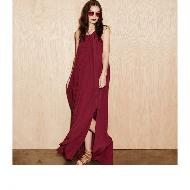 """Knot Sisters """"Jesai"""" Maxi Dress, Wine. Can a dress be equal parts sexy and comfortable?"""