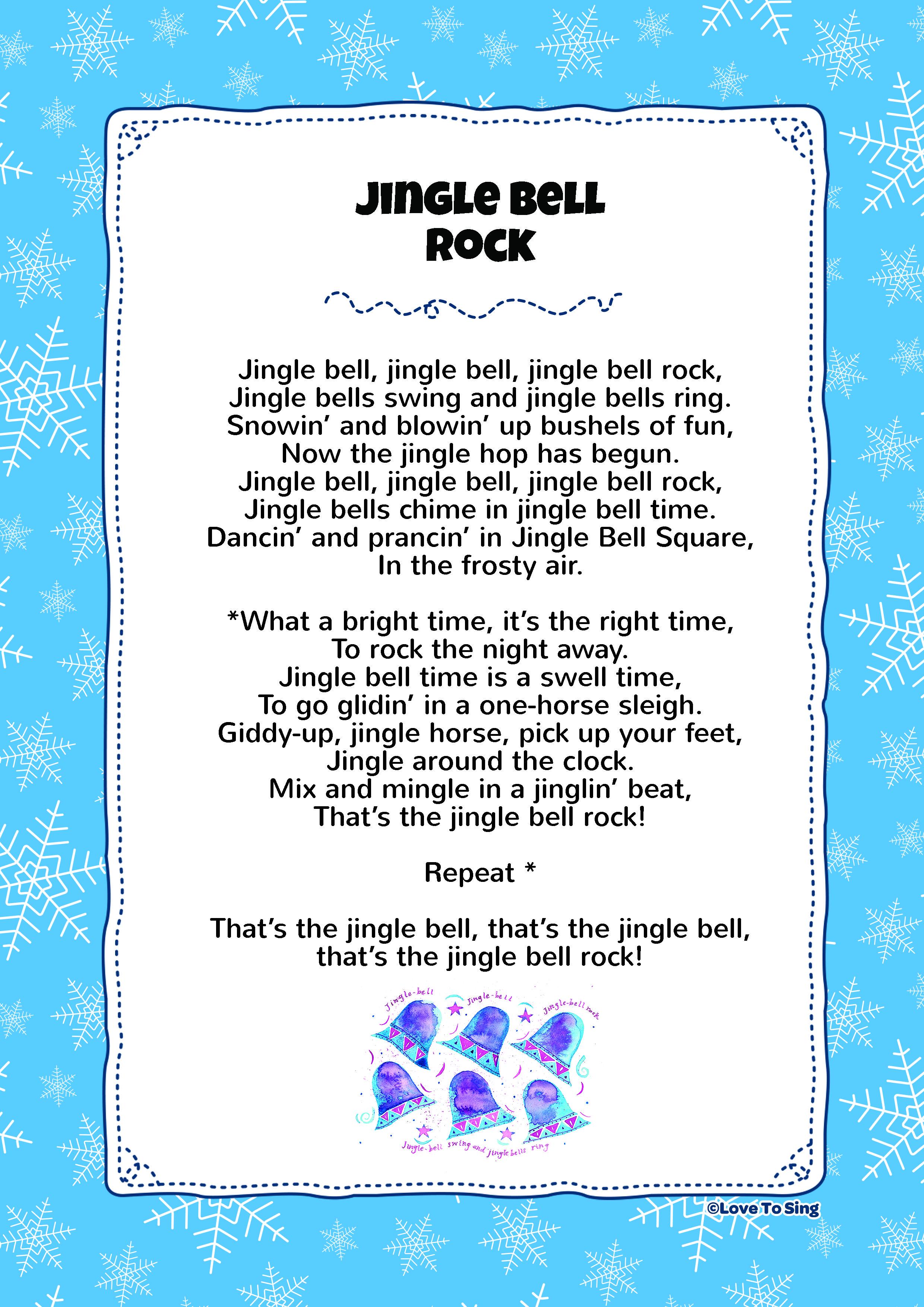 Jingle Bell Rock Christmas songs for kids, Christmas