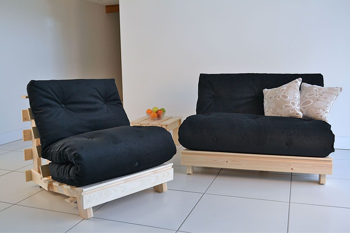 Traditional Futon Which Raises Up On Conversion To Bed A Normal Height