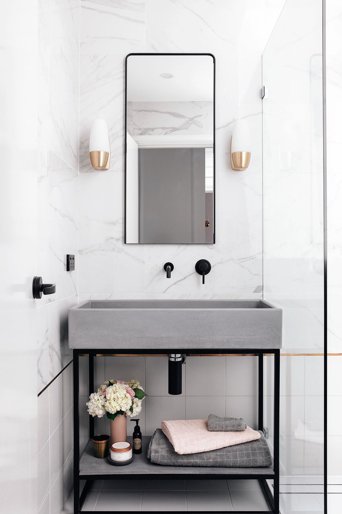 Nood Cos Trough Sink Vanity Set And Zia Mirror, Along