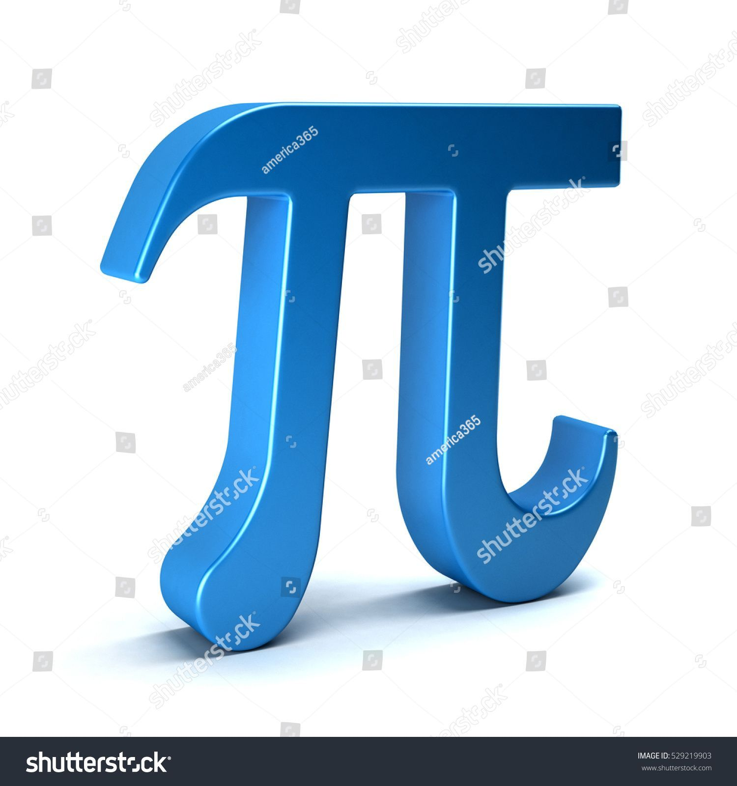 Pi Number Mathematical Symbol 3D Rendering Illustration