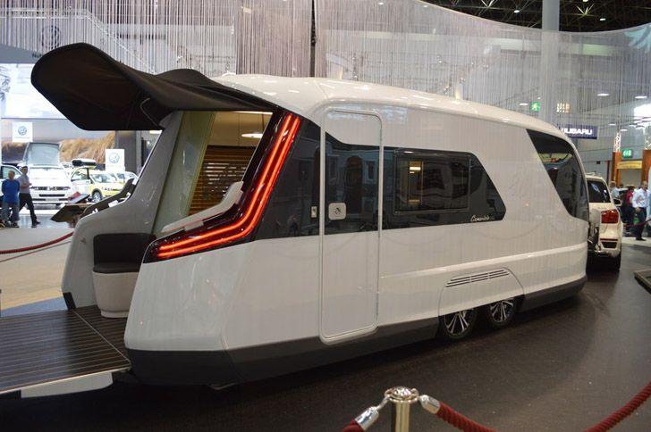 Futuristic Caravisio Rv Blends Over 20 Designer S Thoughts Luxury Campers Rv Mods Camper
