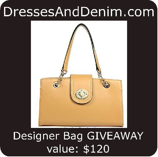 Beautiful Jay M. designer bag valued at $120. Free fashion & beauty sweepstakes, prize value: $120.00, daily entry, United States (excluding Hawaii &