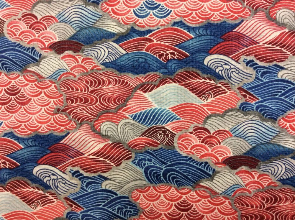fabric quilt cotton asian