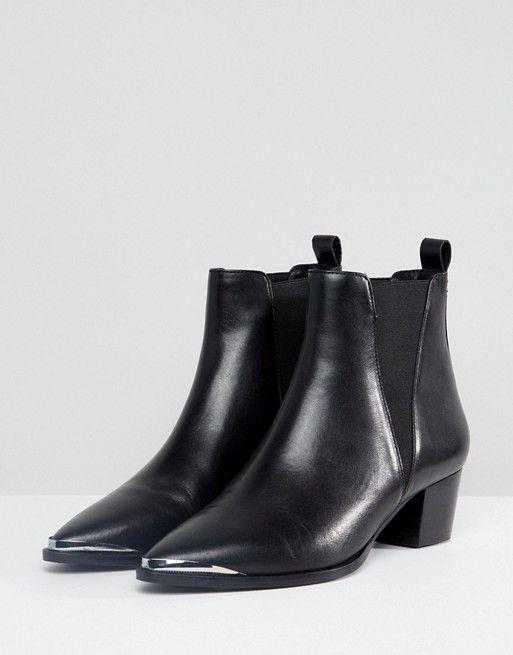 Office Azalea Leather Western Tipped Boots WbOrXQ
