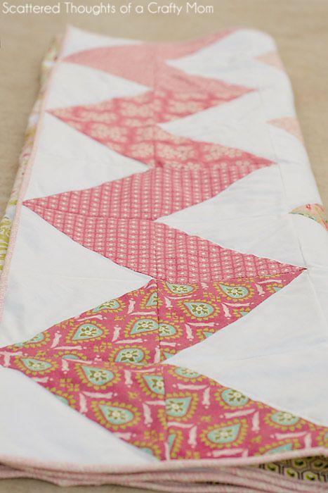 Chevron Quilt (the easy way | Chevron quilt, Patchwork and Craft : how to make a chevron quilt - Adamdwight.com