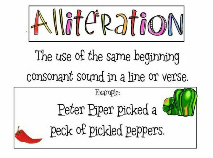 Students Will Create Their Own Alliteration Sentence Using The First