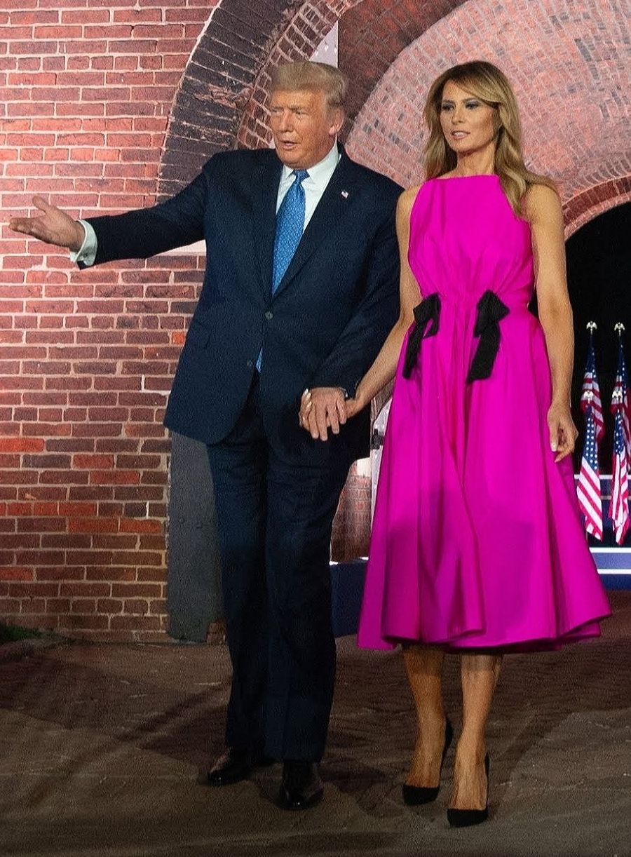 Flotus Melania Trump Attends The Republican National Convention At Fort Mchenry National Monument In In 2020 First Lady Melania Trump First Lady Melania Malania Trump