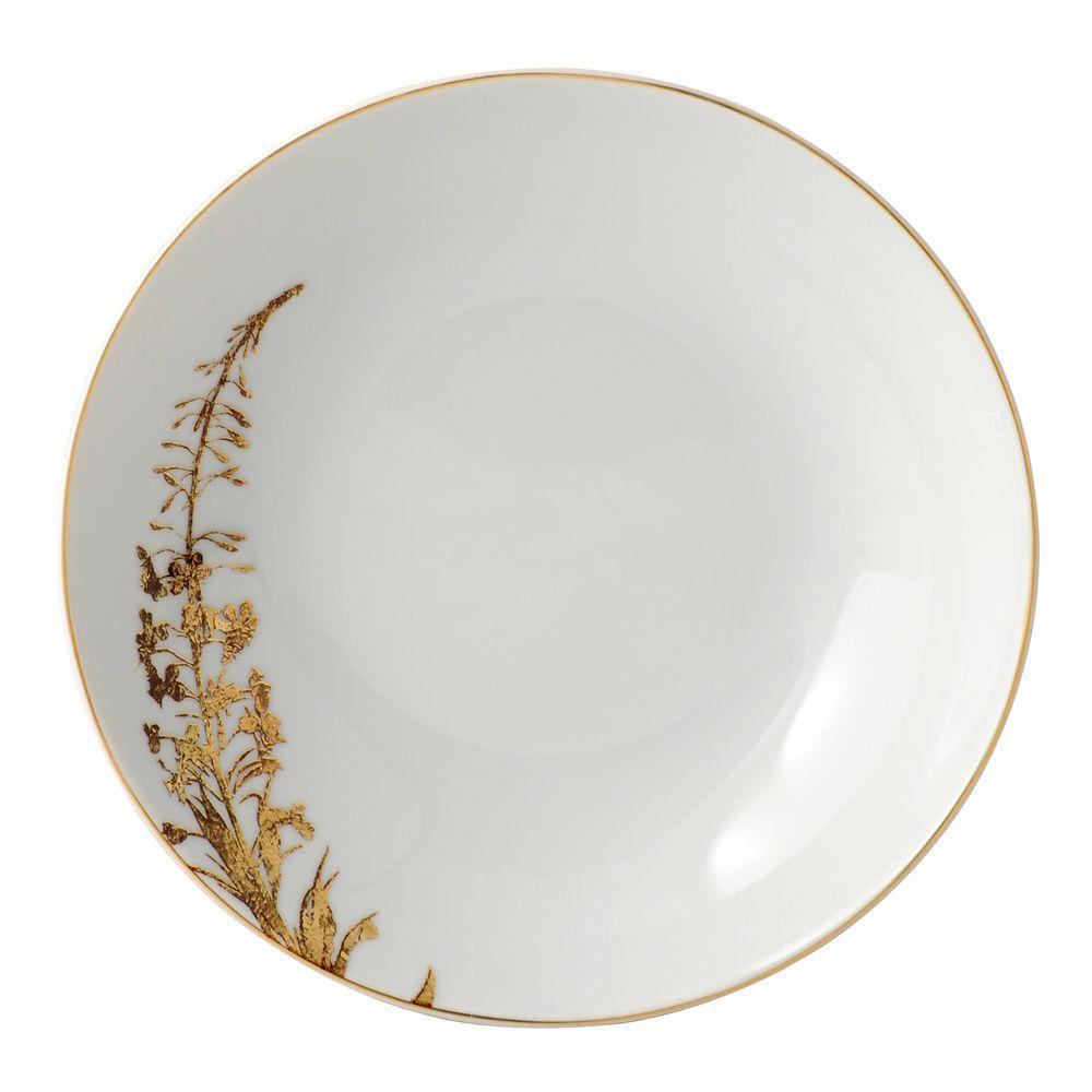 """Bernardaud """"Vegetal"""" Gold Coupe Soup Bowl"""