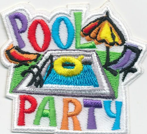 Girl Scout Fun Patch Pool Party